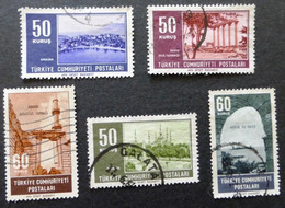 1964 Selection Of Used/hinged Stamps From Turkey-Tourism No Z-245 - Unclassified