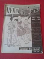 ANTIGUA REVISTA CATÁLOGO PUBLICITARIO ARTÍCULOS GALERÍAS PRECIADOS MADRID VENTA DE JULIO PRENDAS ETC ALMACENES TIENDAS.. - [4] Themes