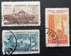 1955 Selection Of Used/hinged Stamps From Turkey-Byzantine Research No Z-254 - Unclassified