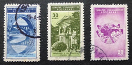 1955 Selection Of Used/hinged Stamps From Turkey-Road Planning Congress No Z-255 - Unclassified