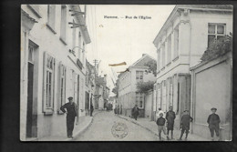 Hamme Rue De L'eglise TOPKAART ZELDZAAM MOOIE ANIMATIE - Hamme