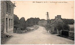 35 PAIMPONT - La Poste Et Route De Plélan - Paimpont