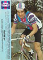 CARTE CYCLISME JOEL GALLOPIN  TEAM COOP - MERCIER 1982 - Ciclismo
