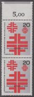 !a! BERLIN 1968 Mi. 321 MNH Vert.PAIR W/ Top Margin (d) -German Gymnstic Festival, Berlin - Ongebruikt