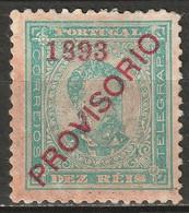 Portugal 1893 Sc 89  MH* Toned/disturbed Gum - Unused Stamps