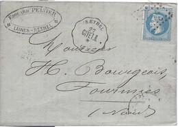 N° 29 Losange GC Convoyeur Station RETHEL GIVET.R Ligne Givet - Reims 1869 - Railway Post