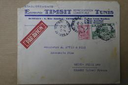 M16 TUNISIE BELLE LETTRE 1947 PAR AVION TUNIS POUR ST FELIX FRANCE + AFFRANCHISSEMENT INTERESSANT - Covers & Documents