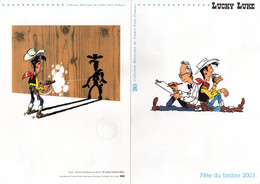 """"""" LUCKY LUKE """" Sur Document Philatélique Officiel (4 Pages) De 2003 N° YT BF 55  + 3546 . Parfait état ! DPO - 2000-2009"""