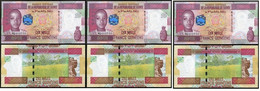 Guinea - 3 Pcs X 10000 Francs 2012 UNC P. 46 Lemberg-Zp - Guinea