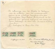 FAC005 -België  Factuur  Het Klooster  Te BALEGEM Met Fiscale Zegels 1936 - 1900 – 1949