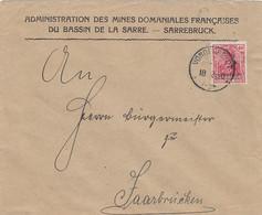 Deutsches Reich Saargebiet Brief 1920-23 - Storia Postale