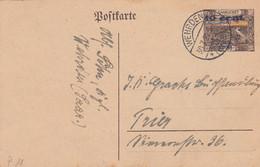 Deutsches Reich Saargebiet Postkarte P11 1920-23 - Storia Postale