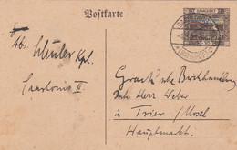 Deutsches Reich Saargebiet Postkarte P8 1920-23 - Storia Postale