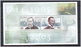 Norge Norway 2005 Dissolution Of The Union With Sweden, .Mi  Bloc 28 FolderMNH(**) - Neufs