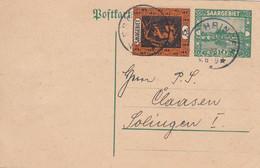 Deutsches Reich Saargebiet Postkarte P15 1920-23 - Storia Postale