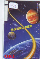 TELECARTE JAPAN * FRONT BAR 110-20081 * ESPACE (1073) * GLOBE * SATELLITE * TERRESTRE * MAPPEMONDE * Phonecard JAPAN * - Spazio