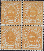 Luxembourg - Luxemburg -Timbres Armoires 1875  Bloc à 4  40C  MNH**  Michel 35 - Blokken & Velletjes