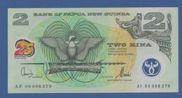 "PAPUA NEW GUINEA - P.21 – 2 KINA 2000 ""Silver Jubilee Papua New Guinea"" Commemorative Issue - UNC  Prefix AF - Papua New Guinea"