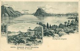 CPA - CASTAGNOLA-LUGANO - HOTEL PENSION VILLA HELVETIA - TI Tessin