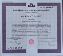 KLM Warrant - Aviazione