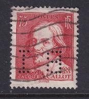 Perforé/perfin/lochung France 1935 No 306 BI Banque De L'Indochine (110) - Perforés