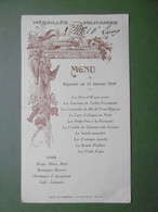 Menu MELUN Hôtel Du Commerce E. POUCHOTTE Le 15 Janvier 1939 Pour Les Médaillés Militaires De Melun - 77 SEINE ET MARNE - Menus