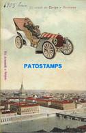 155539 ITALY TORINO TURIN PIAMONTE VIEW PARTIAL & AUTOMOBILE POSTAL POSTCARD - Unclassified
