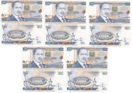 Kenya - 5 Pcs X 20 Shillings 1995 AUNC / UNC P. 32 Lemberg-Zp - Kenya
