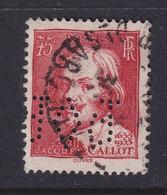 Perforé/perfin/lochung France 1935 No 306 POP ... Provinces - Perforés