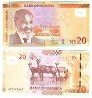 Namibia - 20 Dollars 2018 UNC P. 17 Lemberg-Zp - Namibia