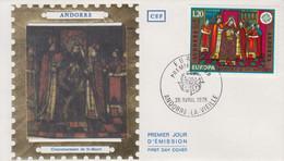 Enveloppe  FDC  1er  Jour   ANDORRE   ANDORRA     EUROPA     1975 - FDC