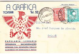 Portugal -Bilhete Postal  1939   A Gráfica  Tomar - Santarem