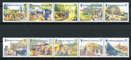 Guernsey 5er Streifen MiNr. 938-47 Postfrisch MNH (RS1486 - Guernsey