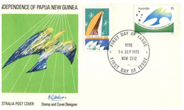 (LL 7) Australia FDC Cover - 1 Cover - 1975 - Papua New Guinea Independence (Ryde Postmark) - FDC