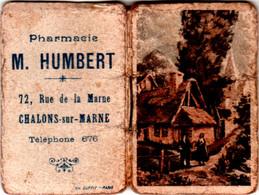 Almanach De Poche Publicitaire 1947 PHARMACIE M. HUMBERT 72 Rue De La Marne à Châlons-sur-Marne TBE, 3 Scans - Small : 1941-60