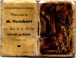 Almanach De Poche Publicitaire 1949 PHARMACIE M. HUMBERT 72 Rue De La Marne à Châlons-sur-Marne TBE, 2 Scans - Small : 1941-60