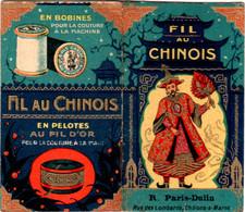 Calendrier Publicitaire 1927 FIL AU CHINOIS Excellent état 3 Scans, Fil à Coudre En Pelotes Au Fil D'or, R. Paris-Dublin - Small : 1921-40
