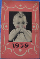 Calendrier Publicitaire 1939 PHOSPHATINE FALIERES 3 Scans EXCELLENT ETAT L'aliment De Santé, 2 Formes Spéciale Normale - Small : 1921-40