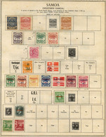 Samoa 1877-1953 Mint And Used Collection On Old Album Page, Quite Well Filled, Good Potential, Seldom Offered - Samoa (Staat)