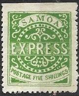 Samoa 1879   Sc#8a  5sh Yellow Green MH  16 Pearls 2016 Scott Value $725 - Samoa (Staat)
