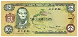 Jamaica - 2 Dollars - 29.05.1992 - Pick 69.d - Unc. - Sign. 10 - Prefix GL - Jamaica