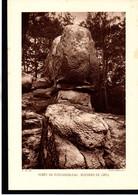 (77) SEINE ET MARNE - Fiche - Année 1935 - Forêt De Fontainebleau, Rochers De Grès, Cliché Deffontaines - Géographie
