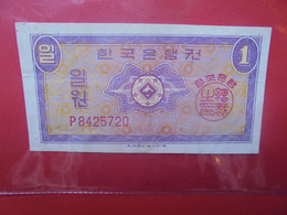 COREE(SUD) 1 WON 1962 Circuler (B.22) - Korea, South