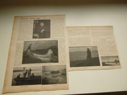 """Origineel Knipsel ( 3597 ) Uit Tijdschrift  """" Ons Volk """"  1913 :  Schilder Tony Van Os   Temse  Antwerpen - Unclassified"""