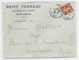 N°138 LETTRE ENTETE PETIT TONNEAU CAFE GLACIER VICHY ALLIER 10.9.1910 - 1877-1920: Semi Modern Period