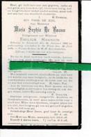Maria De Boever Echt Emilius Hennion O Nazareth 1882 + De Pinte 1928 - Images Religieuses