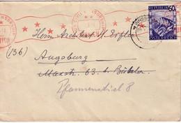 AUTRICHE - LETTRE - OBLITERATION MECANIQUE ROUGE - US CIVIL CENSORSHIP MUNICH - 9-3-1947. - 1945-60 Storia Postale