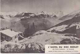 COURCHEVEL - L'HOTEL DU ROC MERLET -DEPLIANT PUBLICITAIRE - Courchevel