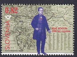 SLOVENIA  2021,NEW 29.01,200 YEARS OF THE BIRTH GEOGRAPHER AND CARTOGRAPHER BLASIUS KOZENN,BLAŽ KOCEN,MAP,MNH - Slowenien