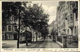 CPA Pforzheim Im Schwarzwald, Bleichstraße, Straßenbahn - Other